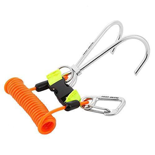 Dwawoo Taucherhaken, Starke, solide und langlebige Ausrüstung zur Gewährleistung Einer Guten Sicherheit unter Wasser während des Tauchens (Orange)