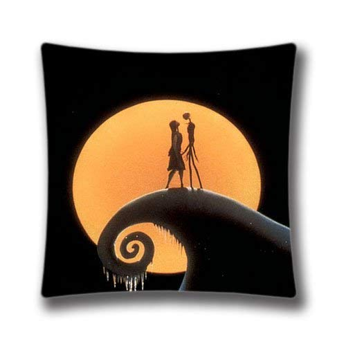 rongxincailiaoke Kissenbezüge Nightmare Before Christmas Jack and Sally Pillow Case Xmas Throw Pillow Case Cute Snowman Cushion Cover for Friends 18x18inch Throw Pillow Case