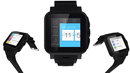 Umeox SmartWatch con SIM Cellulare da Polso, Nero