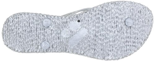 Ilse Jacobsen Ladies Glitter Infradito Cheerful01 Misty Rose Signore Thong Divider Argento (argento (71))