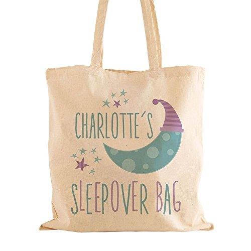 Personalised Sleepover Cotton Bag With Handles, Girls Sleepover Bag, Girls Birthday Gift Ideas by Personalised Gift Ideas