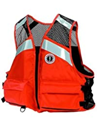 Mustang Industrial Mesh PFD, Orange, XX-Large/XXX-Large by Mustang