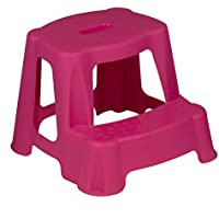 Sturdy Plastic Kids Step Stool Home Bathroom Kitchen Holds 45kg Maximum (Pink) by e2e preisvergleich bei kinderzimmerdekopreise.eu