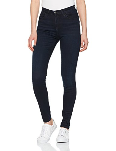 Wrangler Damen Jeans High Skinny, Schwarz (Blueblack 51L), W27/L32 (Wrangler Polyester Hose)
