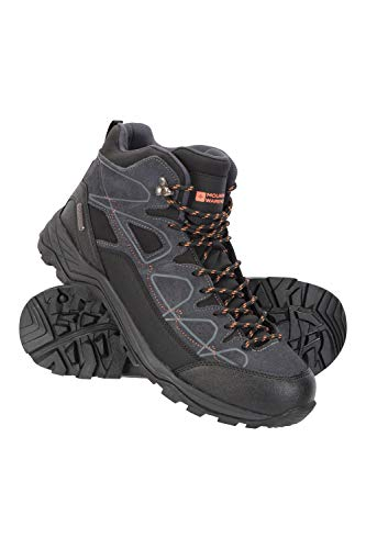 Mountain Warehouse Tempest Mens Waterproof Boots - EVA Footbed Shoes, High Traction Rubber Outsole - for Travelling, Hiking, Camping
