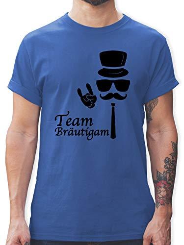 JGA Junggesellenabschied - Team Bräutigam Hipster Suit up - M - Royalblau - L190 - Herren T-Shirt und Männer Tshirt