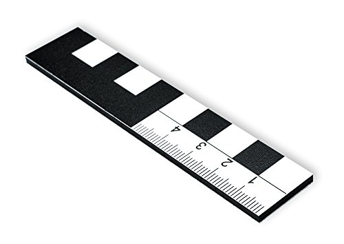 A Fotomaßstab Dibond 10 cm Nordpfeil Lineal Maßstab 3er-Pack