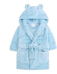 Bata para bebé con capucha de forro polar suave, tamaño 6 –