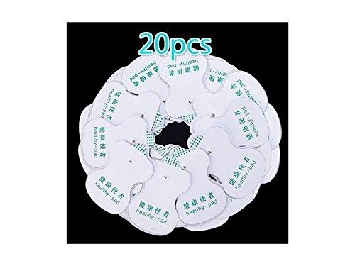 Xdxdwewert 20 pezzi elettrodi per decina agopuntura terapia digitale massaggiatore sostituto (bianco)