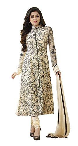 Bigben Beige Georgette Embroidery Designer Salwar Suits