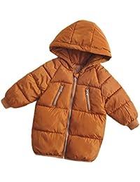 Flairstar Chaqueta de Pluma para Invierno Infantil Unisex Calentito Abrigo Plumón Ligero con Capucha