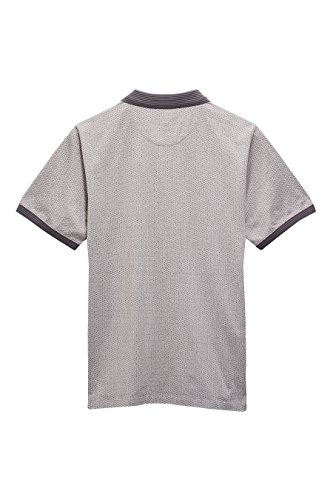 next Herren Premium Poloshirt Print Normale Passform Kurzarm T Shirt Polo Top Rot