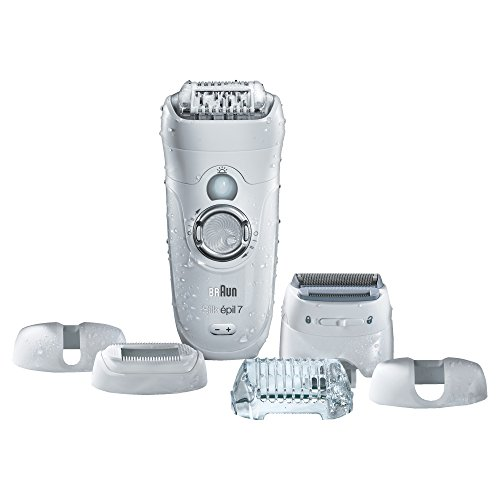Braun Silk-Epil 7 7-561 Wet & Dry Cordless Epilator with 6 Extras