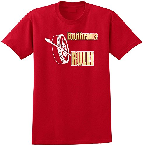 Bodhran Rule - Red Rot T Shirt Größe 87cm 36in Small MusicaliTee