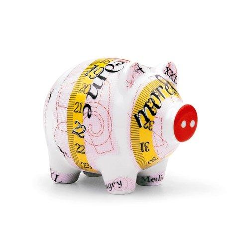 Sparschwein - klein Ulrike Klaus 2010 / Ritzenhoff / Piggy Bank / Sammlerstück / Porzellan / Spardose