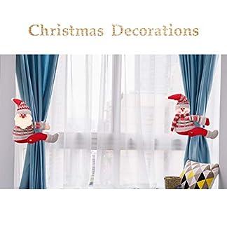 TAIPPAN – Hebilla para cortina de Navidad, diseño de muñecas, decoración navideña, adorno de Navidad, clip para ventana