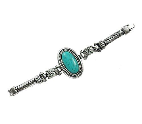 Armband aus füllt auf Metall Antik türkis -
