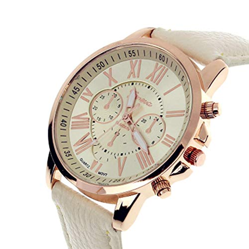 TrifyCore Reloj de Mujer Geneva Correa Doble Capa Blanco 1 Paquete (con Cargo)