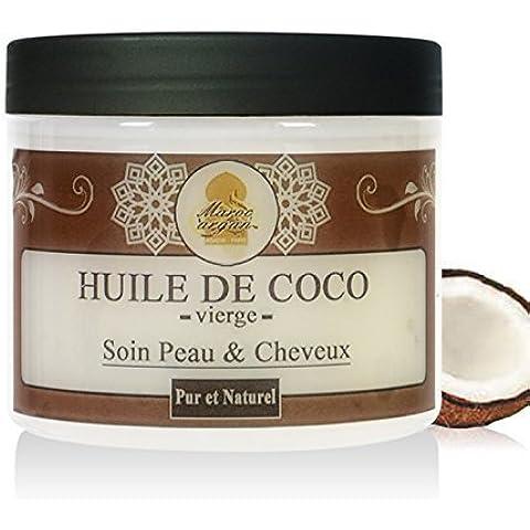 Aceite Vegetal De Coco Puro y Natural - Cuidado Cabello, Piel Cara y Corporal - 200ml