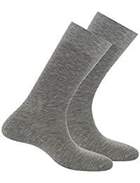 Kindy Lot de 2 paires de chaussettes Pur Fil d'Ecosse Anti-odeur
