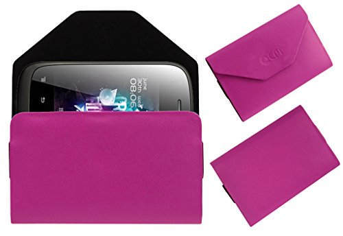 Acm Premium Pouch Case For Micromax A52 Flip Flap Cover Holder Pink  available at amazon for Rs.389