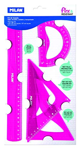 Milan Kit de trazado, 4 reglas flexible
