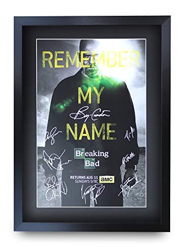 HWC Trading Breaking Bad A3 Gerahmte Signiert Gedruckt Autogramme Bild Druck-Fotoanzeige Geschenk Für Tv-Show-Fans -