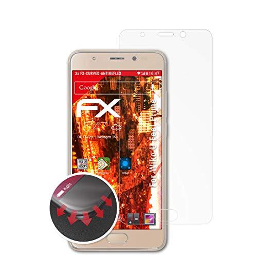 atFolix Schutzfolie passend für Wiko U Feel Prime Folie, entspiegelnde & Flexible FX Bildschirmschutzfolie (3X)