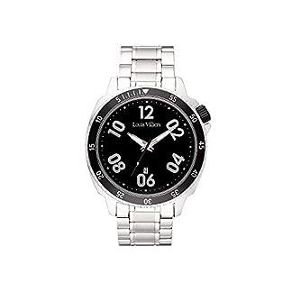 Louis-Villiers-Unisex-Analog-Quarz-Uhr-mit-Edelstahl-Armband-LV1054