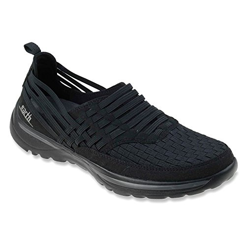 Earth Rapid Synthétique Mocassin Black