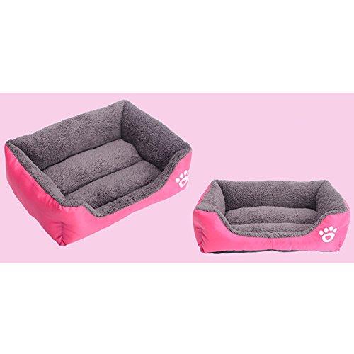 Tping Waschbar Tierbett Hundebett Katzenbett mit Kuscheleinlage für Hunde Welpen Katze Haustier (Mittel, Rose) - 2