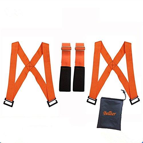 Move Cuerda Cinturón Movimiento y levantamiento de pesas para levantamiento, TV, camas, muebles, Heavy, artículos, a granel para fácil de transportar muebles, aparatos, colchones, o cualquier aheavy objeto., diseño ergonómico