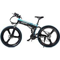 MERRYHE 27 Velocidades De Suspensión Completa E-Bike 400W Bicicleta Plegable Eléctrica Cruiser Bicicleta De