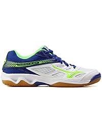 Mizuno - Zapatillas de voleibol de Material Sintético para hombre blanco bianco blu verde