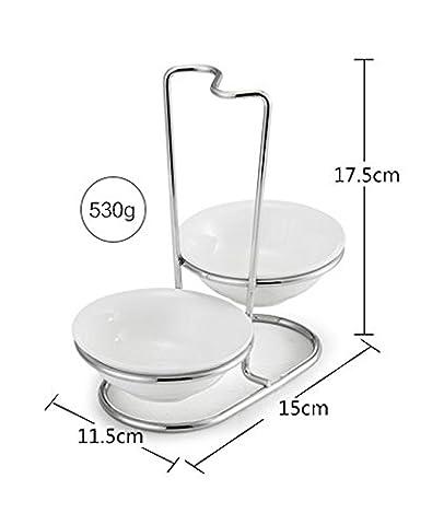 duode Temps verticale cuillère amovible Repose Cuillère Support pour cuillère en acier inoxydable bol à manger à ustensiles de cuisine (style5)