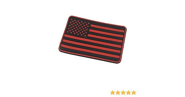 Us Flagge Gummi 3d Klettverschluss Morale Patch Rechter Arm Patch Rot Auto