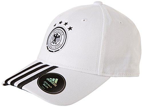 adidas Mütze DFB 3-streifen kappe Fußball, Weiß/Schwarz, OSFL, AH5730