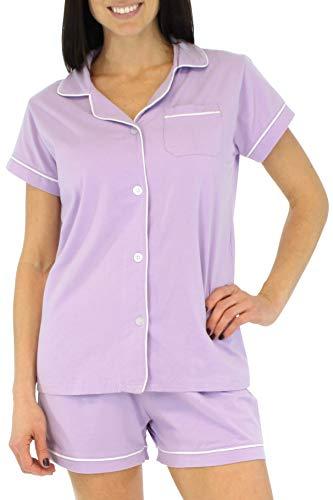 Sleepyheads Conjunto de Pijama y Camisa de Manga Corta con Botones, Mangas Cortas y Ropa de Dormir para Mujer (SHCS1855-5056-XL)