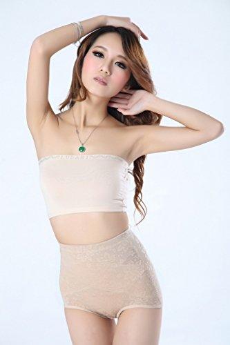 Smile YKK Sous-vêtement Sculptant Femme Culotte Amincissan Serre-taille Taille Haute Abricot