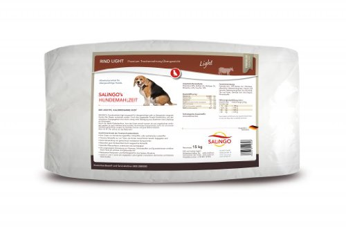 Hundefutter Für Hunde übergewichtige (SALiNGO Hundefutter trocken, Rind Light für übergewichtige Hunde (15kg))