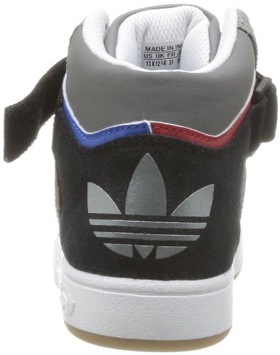 adidas Originals Varial Mid J, Baskets mode mixte enfant Gris (Mid Cinder/White/Red)
