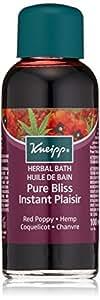 Kneipp Huile de Bain Instant Plaisir Coquelicot et Chanvre 100 ml