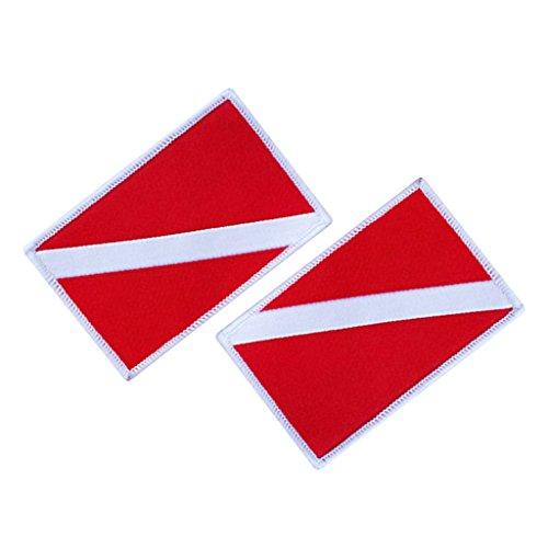 Sharplace 2er Set Tauch- Aufkleber Scuba Dive Flagge Aufkleber Tauchen Taucher