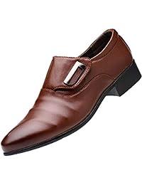 bd69f8dc248dcd SoonerQuicker Mode Business Leder Schuhe für Männer Casual Spitz Schuhe  männlich Anzug Schuhe ...