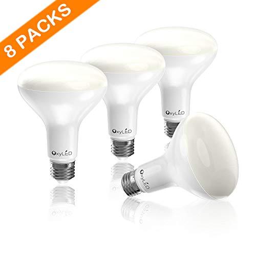 65w Glühbirne (OxyLED LED Lampen, LED Glühbirnen, E27 8er Pack Schraube LED Glühbirnen Lichter für Zuhause, LED 5000K helles Licht,65W Glühbirnen Ersatz Nicht-Dimmable Energiesparlampen,weiß [Energieklasse A])