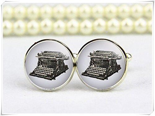 Vintage Typewriter Manschettenknöpfe, Antike Schreibmaschine Manschettenknöpfe
