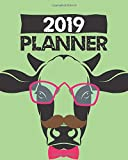 2019 Planner: Daily Weekly & Monthly Calendar Schedule Organizer To Do List (Cow)