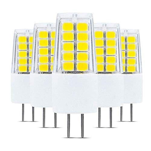 ONLT 5X G4 3W COB LED Bombillas, AC/DC12-24V 4000K 300LM LED Bi-pin Lamp, 30W Lámparas halógenas Reemplazo, No regulable, 360 Degree Beam Angle, Crystal Spotlight Bulb,(Luz Natural)
