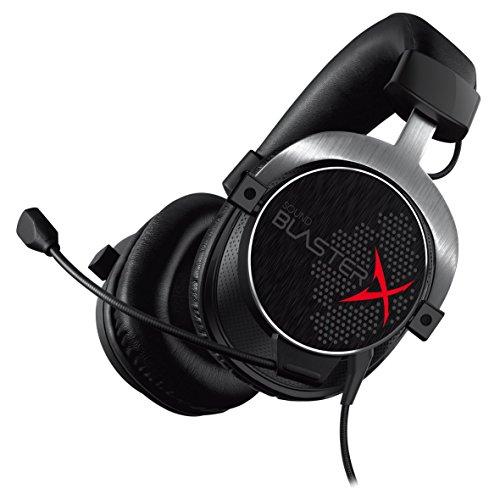 Creative Sound BlasterX H5 Casque de Gaming analogique Pro (Convient pour PS4 et Xbox One) Noir (certifié et remanié)