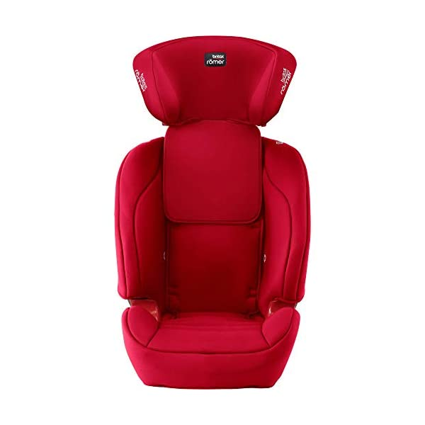 Britax Römer EVOLVA 1-2-3 SL SICT Group 1-2-3 (9-36kg) Car Seat - Fire Red  Installation, ISOFIX and a 3-point seat belt, or 3-point seat belt only Enhanced Side Impact Protection (SICT) minimises the force of an impact in a side collision CLICK & SAFE audible harness system for that extra reassurance when securing your child in the seat 4